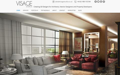 Screenshot of Home Page visagestudios.co.uk - Visage Studios - Architectural Visualisation and 3D Visuals in London - captured Sept. 30, 2014