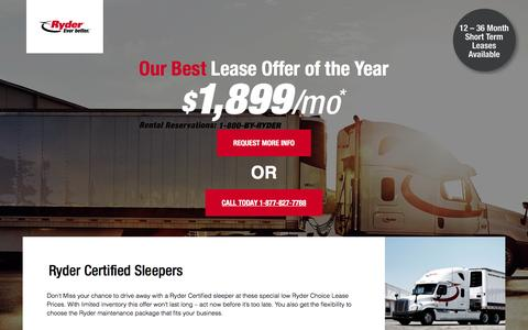 Screenshot of Landing Page ryder.com - Our best lease offer this year! - captured April 4, 2017