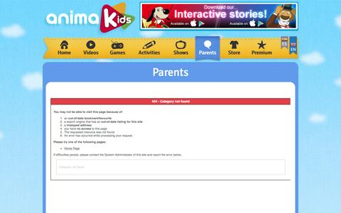 Screenshot of About Page animakids.com - AnimaKids - Parents - captured March 8, 2017