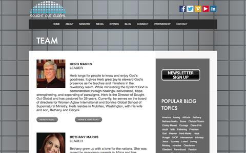 Screenshot of Team Page soughtoutglobal.com - TEAM | Sought Out Global - captured Oct. 1, 2014