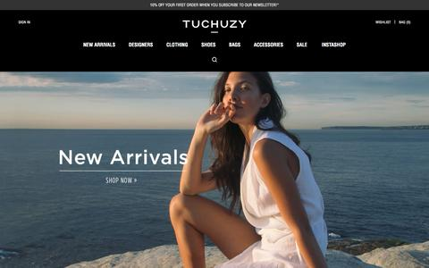 Screenshot of Signup Page tuchuzy.com - Womens Designer Fashion | Clothes, Shoes & Bags Online | Tuchuzy - captured Oct. 20, 2015