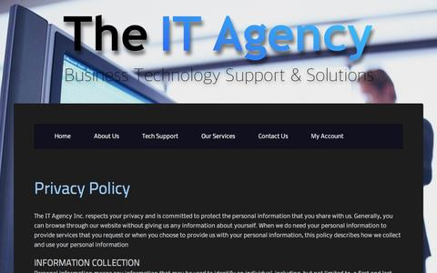 Screenshot of Privacy Page theitagency.com - Privacy Policy | The IT Agency - captured Feb. 25, 2016