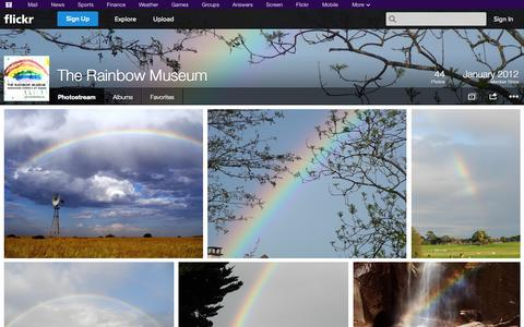 Screenshot of Flickr Page flickr.com - Flickr: The Rainbow Museum's Photostream - captured Oct. 24, 2014