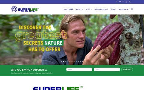 Screenshot of Home Page superlife.com - Welcome to SuperLife! - captured Jan. 24, 2015
