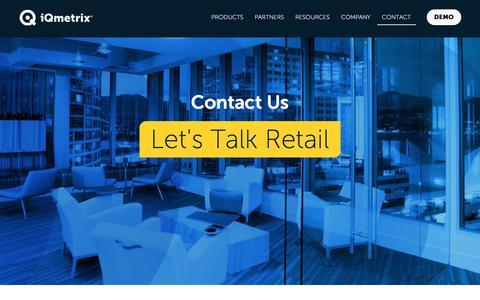 Screenshot of Contact Page iqmetrix.com - Contact Us | iQmetrix - captured June 8, 2017