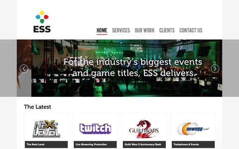 Screenshot of Home Page essagency.com - ESS Agency - captured Sept. 19, 2015