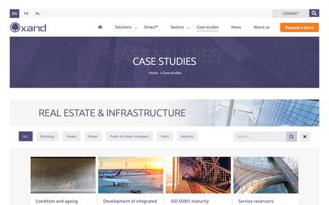 Screenshot of Case Studies Page oxand.com - Case studies | Oxand - captured Sept. 20, 2018