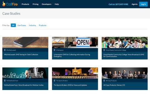 Screenshot of Case Studies Page callfire.com - Case Studies | CallFire - captured Dec. 2, 2015