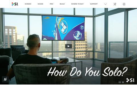Screenshot of Home Page screeninnovations.com - Projection Screen By Screen Innovations - HD Projector Screen - captured April 7, 2018