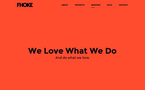 Screenshot of Services Page fhoke.com - Romsey and Hampshire Websites and Design from FHOKE - captured Oct. 1, 2015