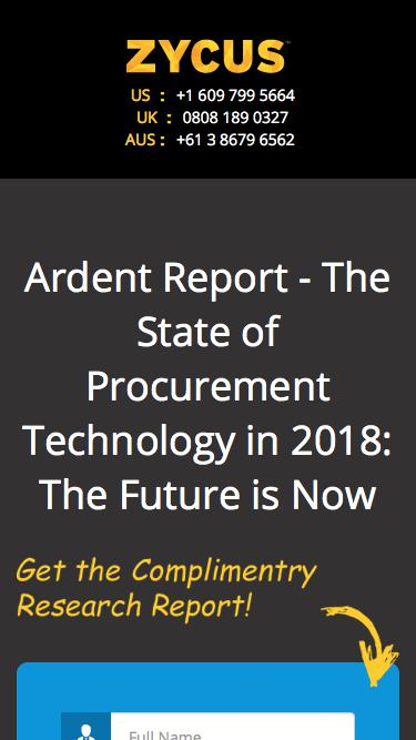 Ardent Report - The State of Procurement Technology in 2018: The Future is Now