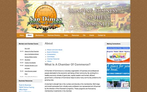 Screenshot of About Page sandimaschamber.com - About - captured Oct. 4, 2014