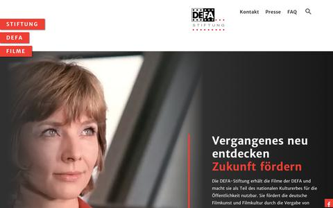 Screenshot of Home Page defa-stiftung.de - DEFA - DEFA - Stiftung - captured Nov. 28, 2018