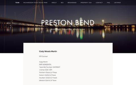 Screenshot of Team Page prestonbend.com - TEAM — PRESTON BEND - captured Sept. 27, 2016