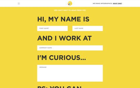 Screenshot of Contact Page lemonly.com - Contact Us Today | Lemonly Infographics  - captured Sept. 2, 2017