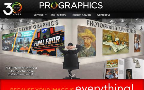 Screenshot of Home Page pgiworldwide.com - Professional Graphics Inc | Your Image Is Everything - captured Sept. 30, 2018