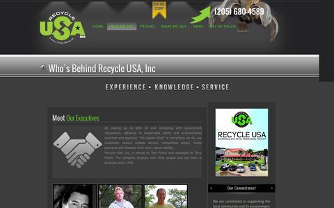 Screenshot of Team Page recycleusainc.com - About Recycle USA, Inc. | Recycle USA Inc - captured Feb. 25, 2016