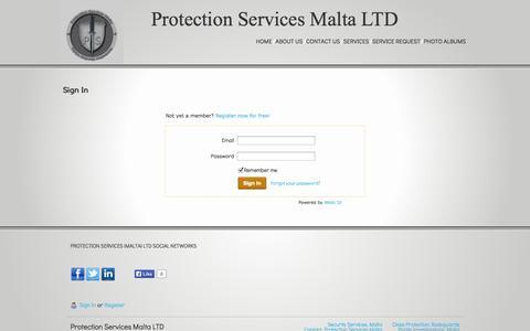 Screenshot of Login Page epsmalta.com - Login - captured Nov. 2, 2014
