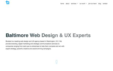 Baltimore Web Design & UX Experts | Bluetext
