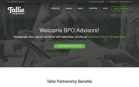 Expense Report BPO | Tallie