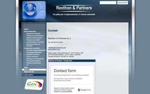 Screenshot of Contact Page google.com - Contatti - Rexthon & Partners - captured Nov. 30, 2016
