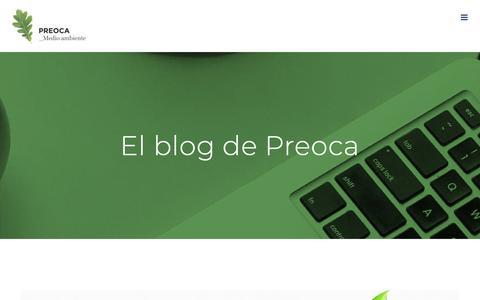 Screenshot of Blog preoca.com - Blog - Preoca Servicios Medioambientales - captured Nov. 9, 2018