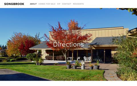 Screenshot of Maps & Directions Page songbrook.net - Directions — SongBrook - captured July 2, 2018