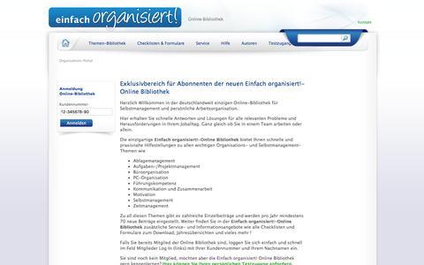 Screenshot of Home Page einfach-organisiert.de - Organisations-Portal - Einfacher organisiert - captured Jan. 22, 2017