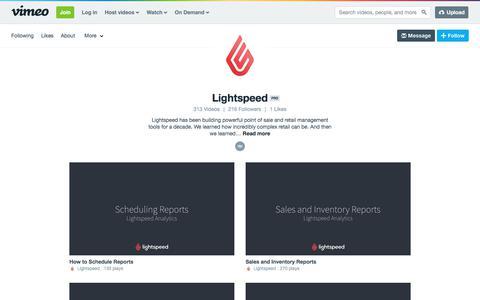 Lightspeed on Vimeo