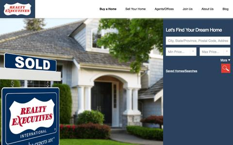 Screenshot of Home Page realtyexecutives.com - Realty Executives | Buy or Sell Your Home With Us - captured Sept. 21, 2015