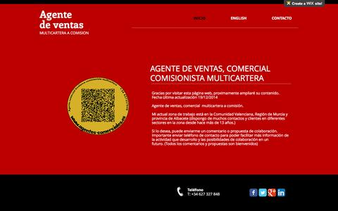 Screenshot of Home Page agente-comercial.es - Agente comercial freelance vendedor a comision - captured Feb. 5, 2016