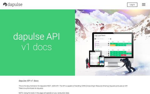 Screenshot of Developers Page dapulse.com - dapulse: The Intuitive Management Tool - Developers - captured Nov. 6, 2017