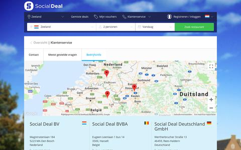 Screenshot of Contact Page socialdeal.nl - Zeeland by Social Deal: Korting tot wel 90% - captured Sept. 20, 2018
