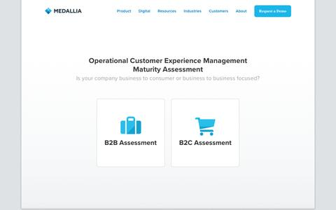 Operational Customer Experience ManagementMaturity Assessment - Medallia