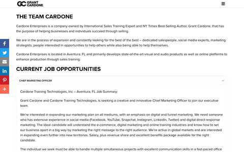 Screenshot of Jobs Page grantcardone.com - Join Grant Cardone and Team Cardone! - captured July 27, 2018