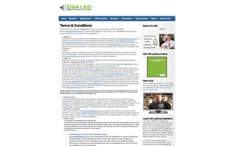 Screenshot of Terms Page usaledsolutions.com - USA LED Solutions Terms & Conditions - USA LED Solutions - captured Nov. 3, 2014