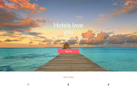 Screenshot of Home Page hotelied.com - Hotelied - captured Dec. 1, 2015