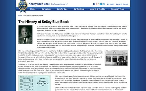 Screenshot of About Page kbb.com - About Us - The History of Kelley Blue Book - Kelley Blue Book - captured Oct. 23, 2014