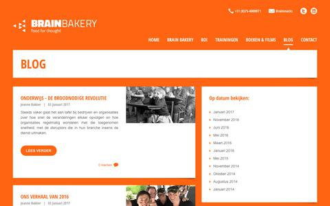 Screenshot of Blog brainbakery.nl - » BRAIN BAKERY - captured June 2, 2017