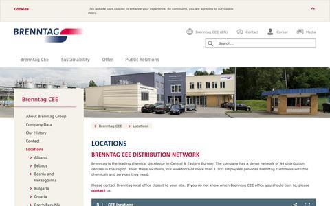 Screenshot of Locations Page brenntag.com - Locations | Brenntag - captured Nov. 23, 2016