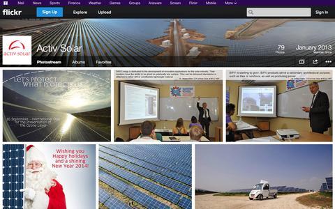 Screenshot of Flickr Page flickr.com - Flickr: Activ Solar's Photostream - captured Oct. 23, 2014