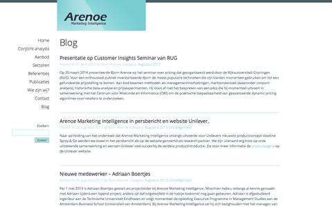 Screenshot of Blog arenoe.nl - Blog - Arenoe.nl - captured Oct. 4, 2014