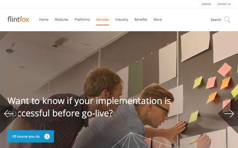 Screenshot of Services Page flintfox.com - Services - Flintfox - captured Aug. 4, 2016