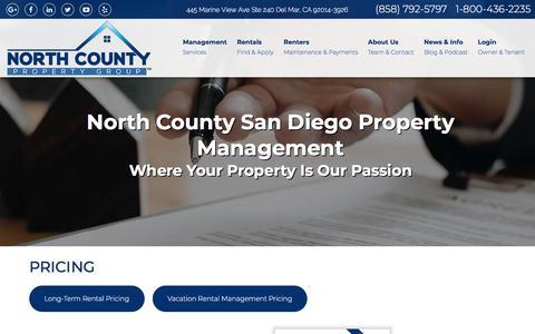 Screenshot of Pricing Page ncpropertygroup.com - Pricing - captured Sept. 23, 2018
