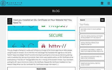 Screenshot of Blog blacktiedigital.com - Digital Marketing Blog | Black Tie Digital Marketing - captured July 9, 2018
