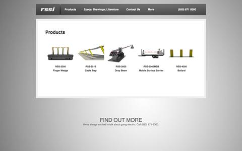 Screenshot of Products Page rssi.com - Vehicle Barriers | RSSI - captured Oct. 7, 2014