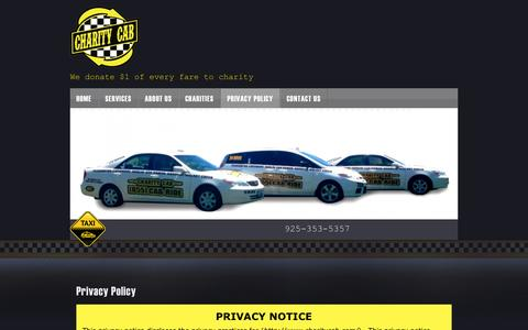 Screenshot of Privacy Page charitycab.com - Privacy Policy - Charity Cab - captured Sept. 29, 2014