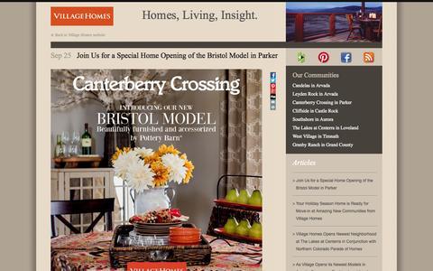 Screenshot of Blog villagehomes.com - Homes, Living, Insight. | Village Homes - captured Oct. 9, 2014