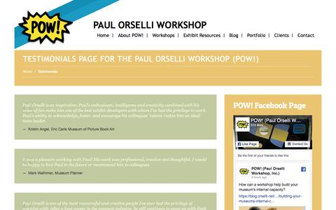 Screenshot of Testimonials Page orselli.net - Testimonials for The Paul Orselli WorkshopPaul Orselli Workshop - captured Sept. 25, 2018