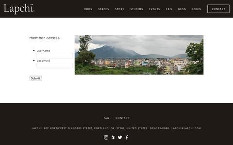 Screenshot of Login Page lapchi.com - Login — Lapchi - captured Sept. 27, 2018